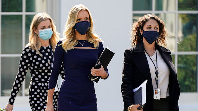 Beyaz Saray'da ortalık karıştı: Sözcü McEnany'nin de koronavirüs testi pozitif çıktı