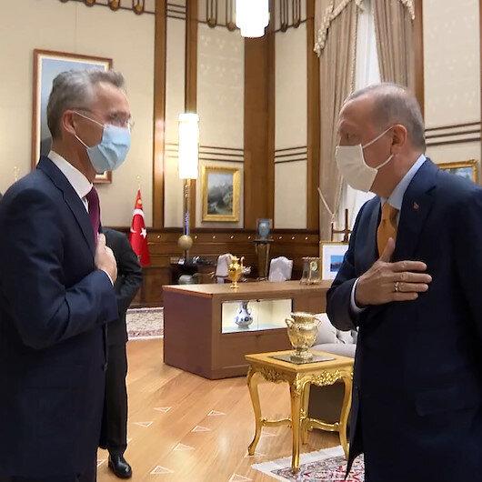 Cumhurbaşkanı Erdoğan, NATO Genel Sekreteri Jens Stoltenbergi kabul etti