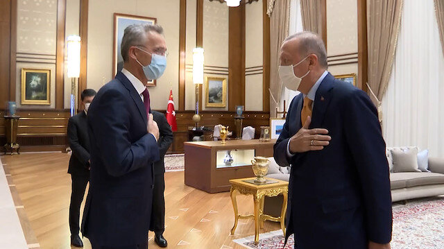 Cumhurbaşkanı Erdoğan, NATO Genel Sekreteri Jens Stoltenberg'i kabul etti