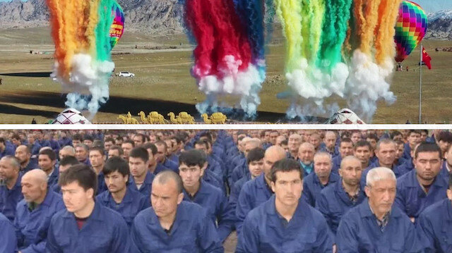 Çin, Doğu Türkistan'ı böyle tanıttı: Her şey güllük gülistanlık!