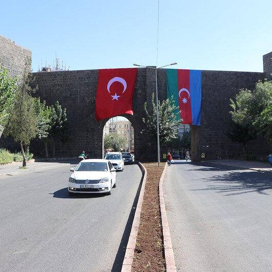 Diyarbakırdan Azerbaycana destek