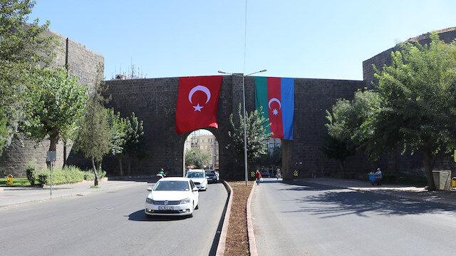 Diyarbakır'dan Azerbaycan'a destek
