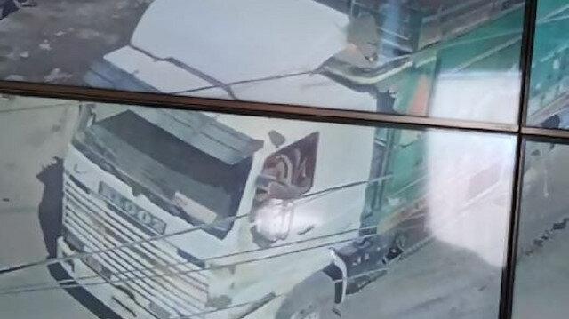 El Bab'da saldırı anı kamerada