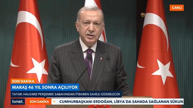 Cumhurbaşkanı Erdoğan: Kapalı Maraşı açıyoruz