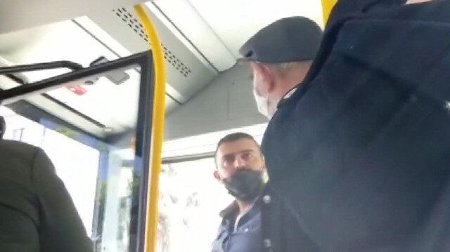 Yolcu kapasitesini aşan otobüsten inmek istemeyen yolcu şoförle tartıştı