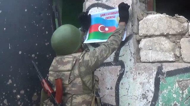 Azerbaycan, ele geçirilen Ermenistan mevzilerini ve cephanelerini paylaştı