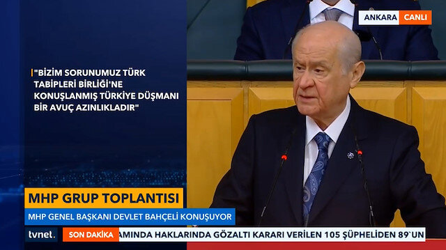 Bahçeli'den Kılıçdaroğlu'na gönderme: Sen yeni deste açıp ortaklarınla birbirinizi ütün