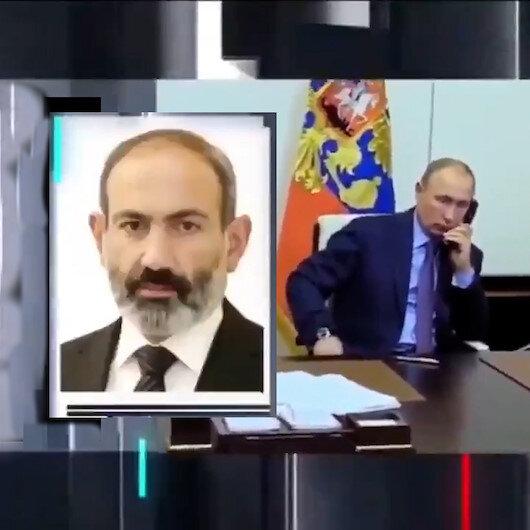 Putinden canlı toplantı sırasında sürekli arayan Paşinyana meşgulüm, sonra ararım