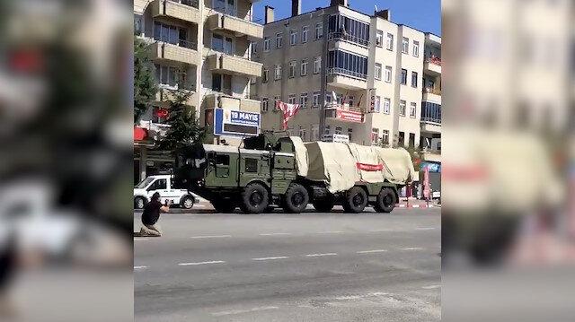 S-400'ler Sinop'a sevk edilirken görüntülendi