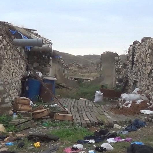 Ermenistan işgalinden kurtarılan Şaybey köyünden görüntüler paylaşıldı