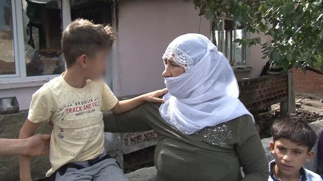 Zincirlenmiş halde alevler arasından kurtarılan çocuğun ailesinden pes dedirten açıklama: Yaramazlık yaptığı için...