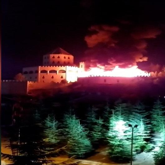 Ankaradaki Estergon Kalesinde yangın çıktı