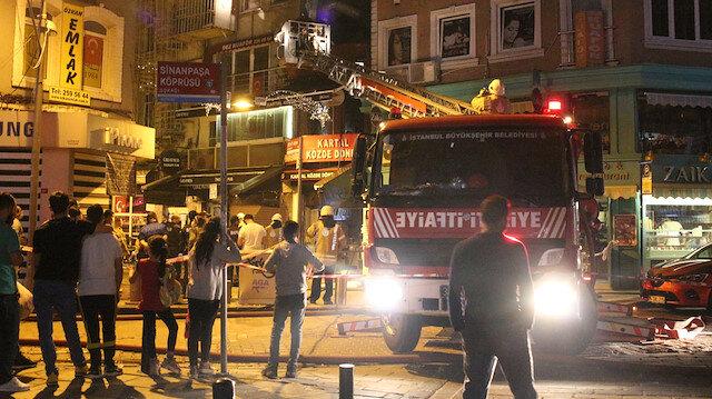 Beşiktaş'ta dönerci dükkanında korkutan yangın