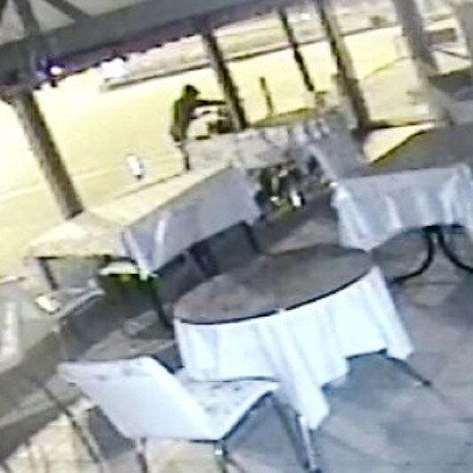 Kütahyada motosiklet hırsızlığı güvenlik kamerasında