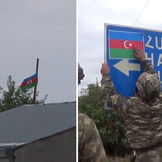 Bir köye daha Azerbaycan bayrağı dikildi: Şükürbeyli Ermenistan işgalinden kurtarıldı