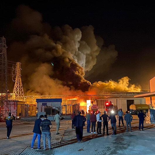 Konyadaki şeker fabrikasında çıkan yangın paniğe neden oldu