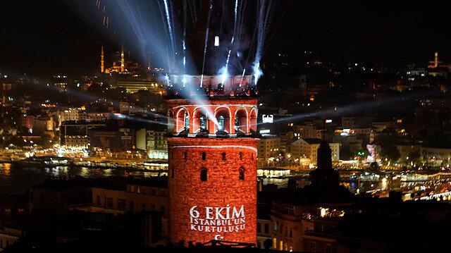 İstanbulun simgelerinden Galata Kulesi görsel şölenle ziyarete açıldı