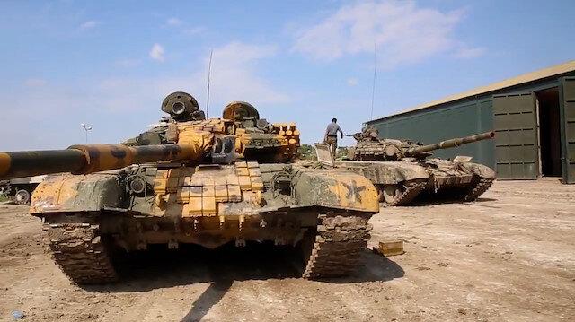 Ermenistan güçleri kaçmaya devam ediyor: Azerbaycan ordusu ele geçirdiği tankları paylaştı