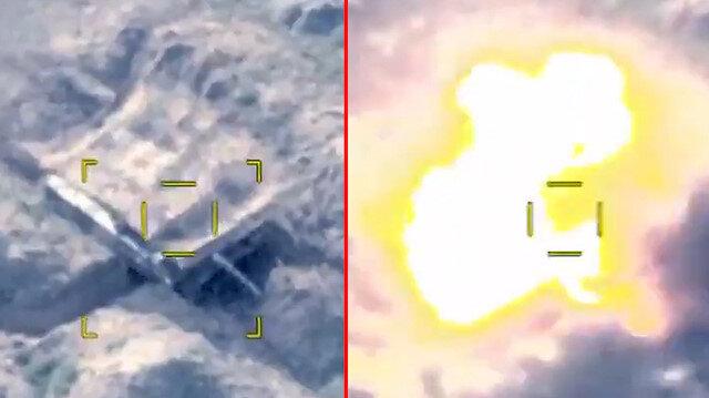 Azerbaycan ordusu, Ermenistan zırhlılarının SİHA ile imha edildiği görüntüleri paylaştı