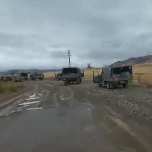 Ermenistan askerleri askeri araçları yollara bırakıp kaçtı