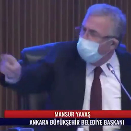 Ankara Büyükşehir Belediye Başkanı Yavaştan meclis üyesine: Sana söz verirsem konuşursun! Alın mikrofonu!