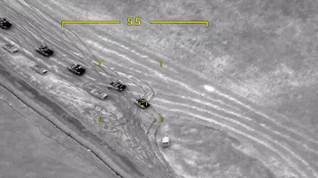 Ermenistan ordusuna ait çok sayıda askeri araç havaya uçuruldu