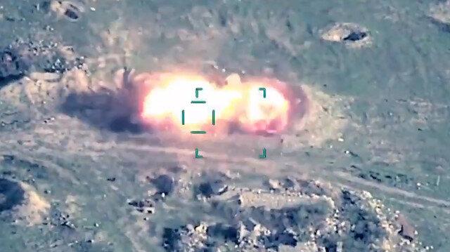 Azerbaycan ordusu, ateşkesi ihlal eden Ermenistan'ın uçaksavar sistemlerini havaya uçurdu