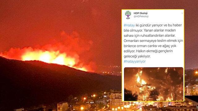 Yangınları PKK üstlenince HDP sessizliğe gömüldü: Gerçek ortaya çıkıncı iftira tweetini sildiler