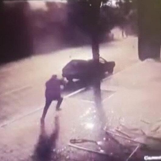 Ermenistanın Gencede sivillere düzenlediği saldırı anına ait görüntüler
