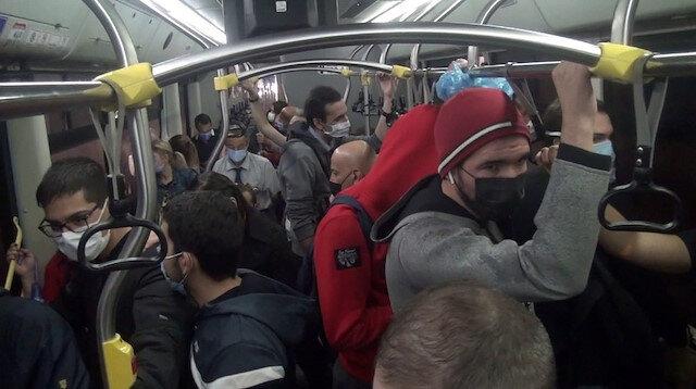 Otobüste sosyal mesafesiz yolculuk kamerada