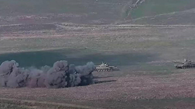 Ateşkesi bozan Ermenistan ordusu saldırıyor: Terter bölgesine top mermisi atıldı