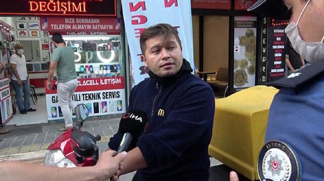 Tuzla'da 'bana teşkilatın numarasını verin' sözleriyle gündem olan kurye için istenen ceza belli oldu