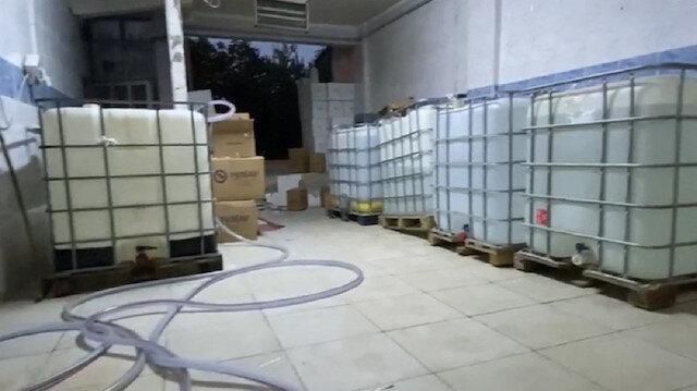 Avcılar'da  6 ton kaçak içki ele geçirildi