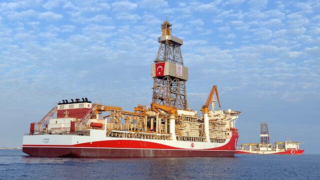 Mersin'den yola çıkan Kanuni sondaj gemisi Yavuz'u selamladı