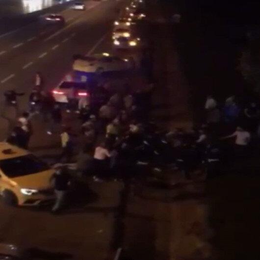Esenyurtta taksici terörü: Ortalık savaş alanına döndü