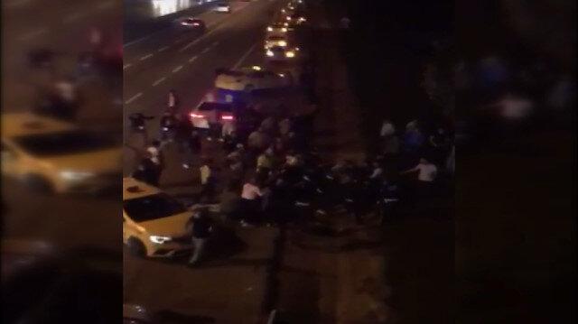 Esenyurt'ta taksici terörü: Ortalık savaş alanına döndü