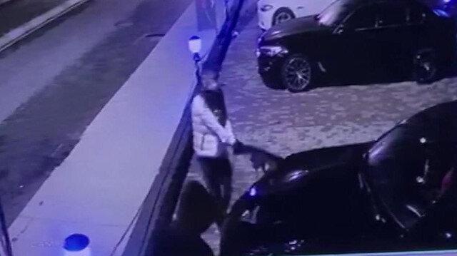 Sultanbeyli'de hırsızlar lüks aracın farını böyle çaldı