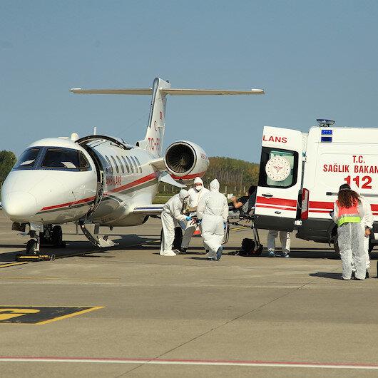 Afganistanda koronavirüse yakalanan doktor, ambulans uçakla Türkiyeye getirildi
