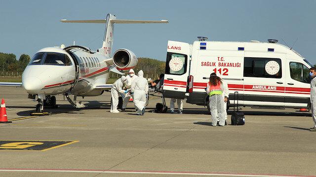Afganistan'da koronavirüse yakalanan doktor, ambulans uçakla Türkiye'ye getirildi