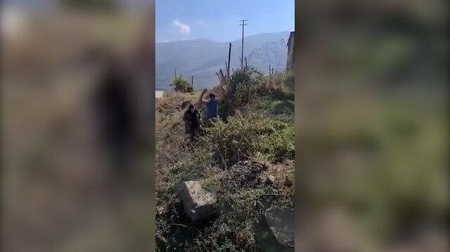 Azerbaycan askerleri biri 70 yaşında iki Ermenistan askerini esir aldı