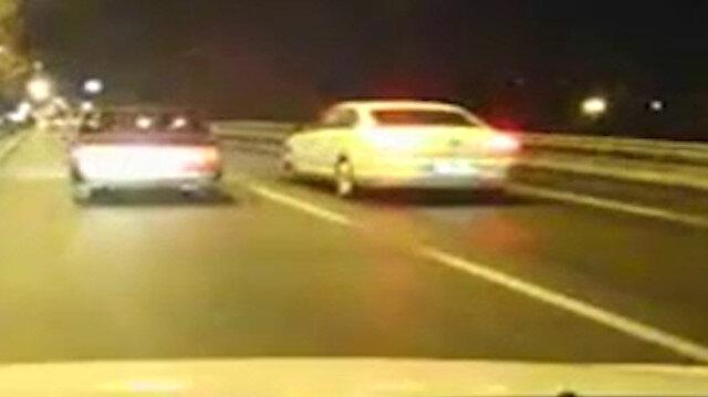 Eskişehir'de trafik magandası kamerada
