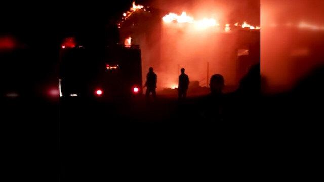 Tunceli'de bir köyde çıkan yangında 4 ev kullanılamaz hale geldi
