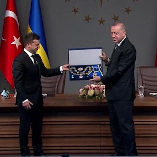 Cumhurbaşkanı Erdoğana, Ukraynadan Bilge Prens Nişanı