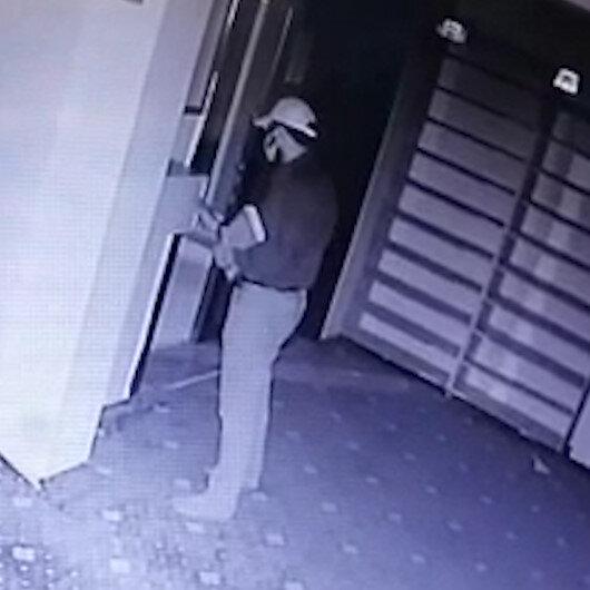 Amasyadaki camiden hırsızlık görüntüleri