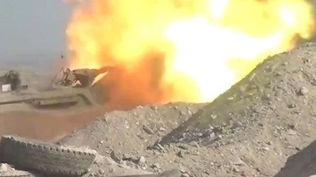 Azerbaycan, Ermenistan'a ait mevzileri topçu atışlarıyla vurdu