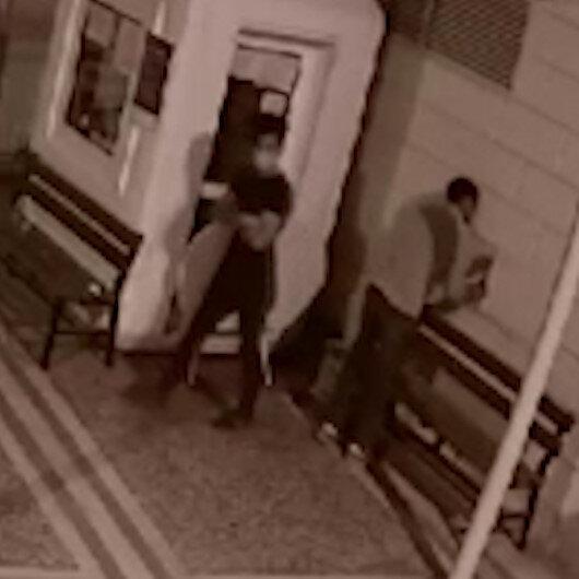 Gaziantepte camiden musluk çalan hırsızlar kamerada