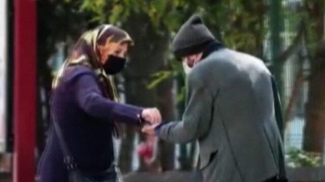 Bursa'da dilenci kılığına giren tiyatro oyuncusu bir saatte 250 lira topladı