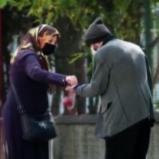 Bursada dilenci kılığına giren tiyatro oyuncusu bir saatte 250 lira topladı