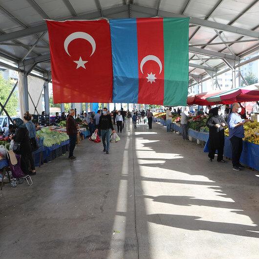 Tokatta pazarcı esnafından Azerbaycan için dua