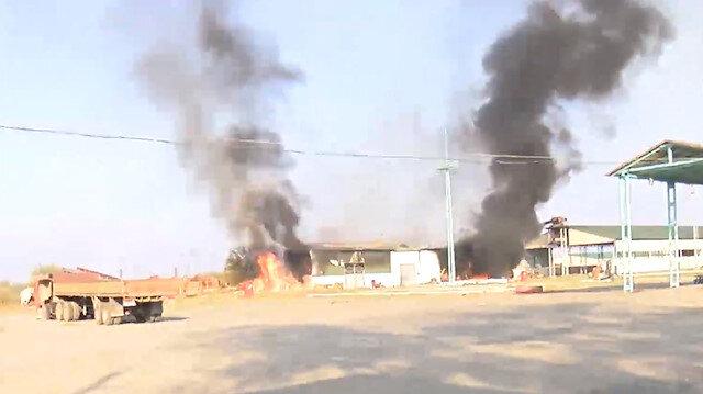 Ermenistan ordusu Terter'deki pamuk fabrikasına 7 top mermisiyle saldırdı